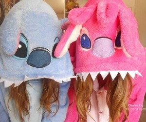 stitch, friends, and pink image