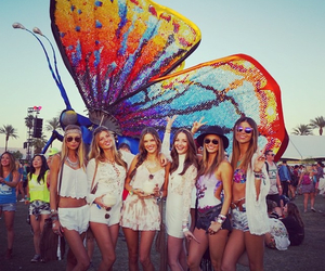 coachella, alessandra ambrosio, and butterfly image