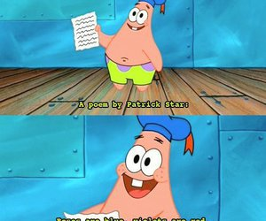patrick, funny, and poem image