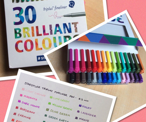 colours, stationery, and study image