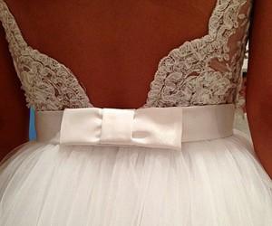 wedding dress, white, and weding dress image