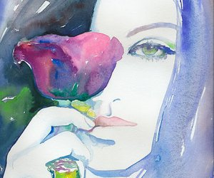 girl, illustration, and painting image
