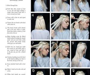 braiding, game of thrones, and hair image