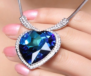 blue, necklace, and love necklace image