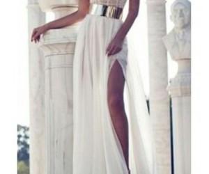 white, dress, and beautiful image
