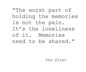 quotes, the giver, and memories image