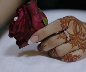 henna, pearl, and rose image