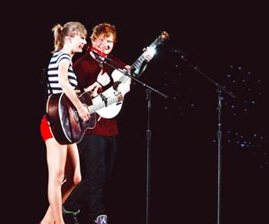 Taylor Swift, ed sheeran, and red image
