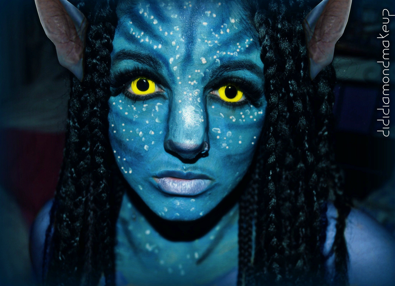 avatar na vi neytiri makeup for halloween on we heart it