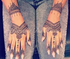 beautiful, fashion, and henna image