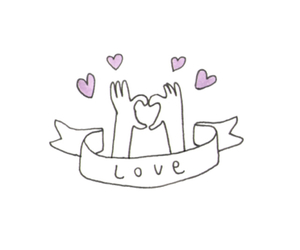 overlay, love, and heart image