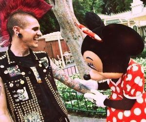 disney, guy, and minnie mouse image