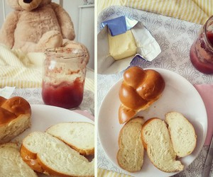 bed, breakfast, and teddy bear image