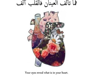 quote, heart, and عربي image