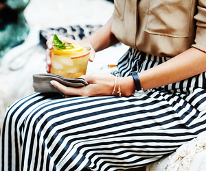 fashion, stripes, and drink image