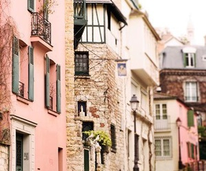 pink, house, and street image