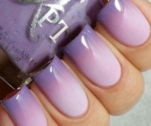 nails, ombre, and purple image