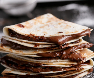 chocolate, pancakes, and foodporn image