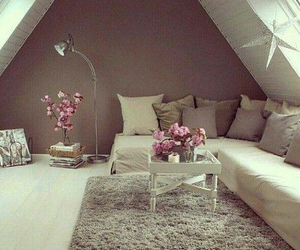 room, home, and flowers image