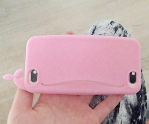 pink, whale, and cases image