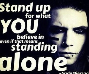 quote, andy biersack, and black veil brides image
