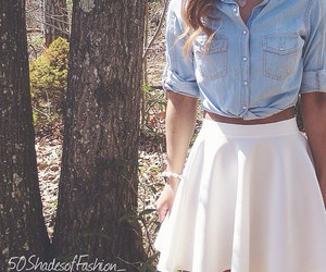 skirt, fashion, and shirt image