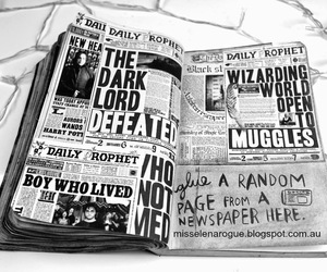 harry potter, art, and black and white image