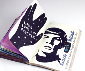 art, hipster, and spock image