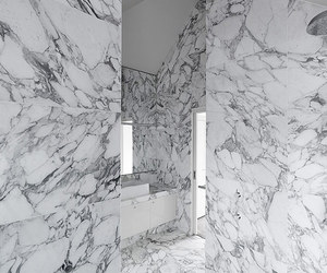 white, interior, and marble image