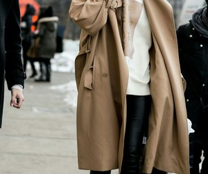 coat, girl, and hipster image