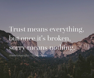 trust, broken, and everything image