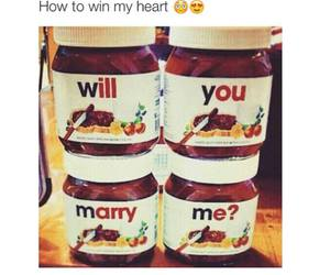 nutella, marry, and heart image