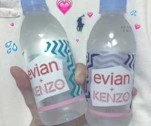 water, evian, and aesthetic image