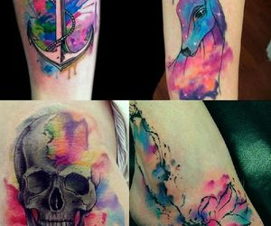 tattoo, watercolor, and art image