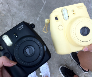 black, yellow, and camera image