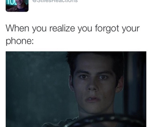 teen wolf, funny, and phone image