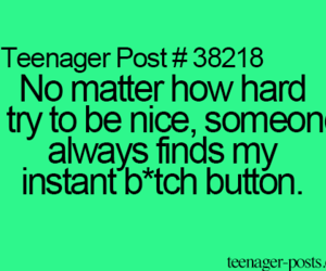 bitch, funny, and teenager post image