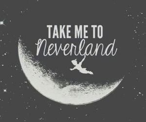 neverland, peter pan, and moon image