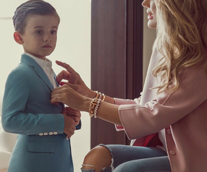 fashion and mother and son image
