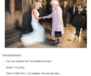 funny, Queen, and wedding image