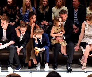 David Beckham, family, and victoria beckham image