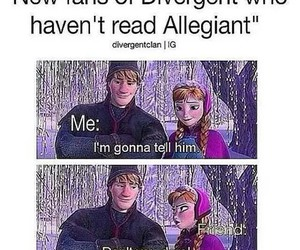 divergent, book, and frozen image