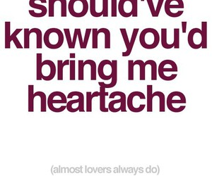 heartache, quote, and text image