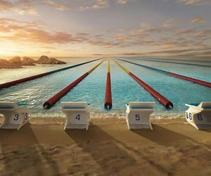 sport, swimming, and water image
