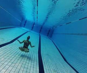 relax, swimming, and water image