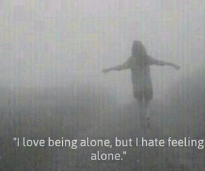 alone, me, and being image