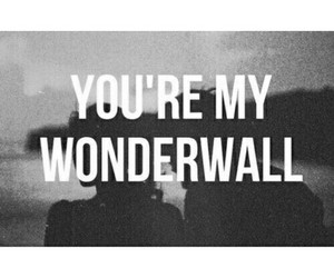 wonderwall, love, and oasis image