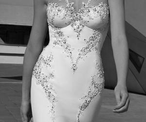 wedding dress, love, and woman image