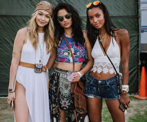 coachella, gigi hadid, and outfit image