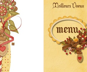 menu, marque place, and noel image
